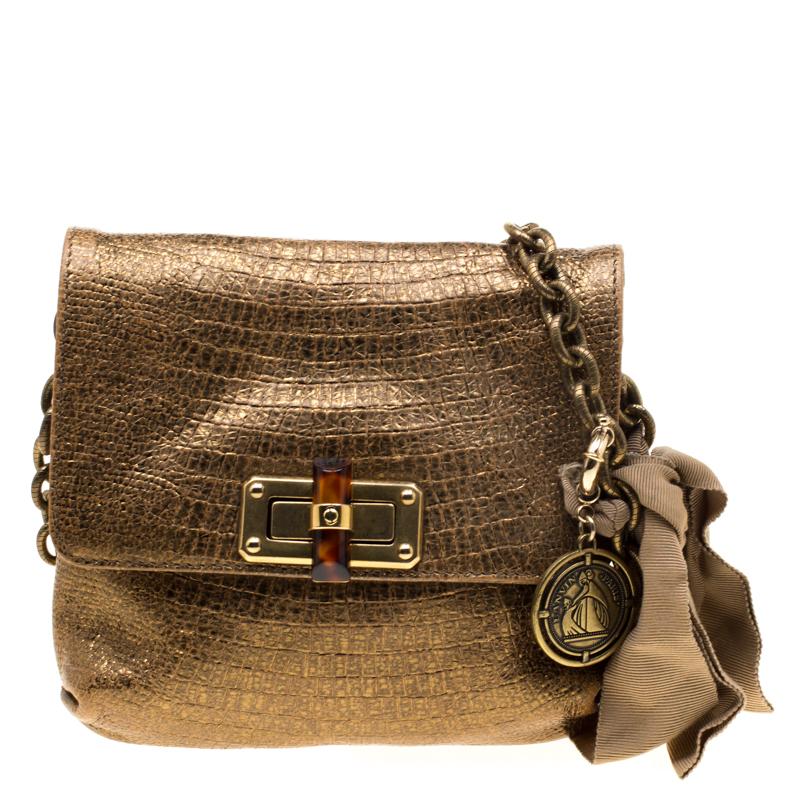 d6c5ad71842f ... Lanvin Gold Lizard Embossed Leather Mini Happy Crossbody Bag. nextprev.  prevnext