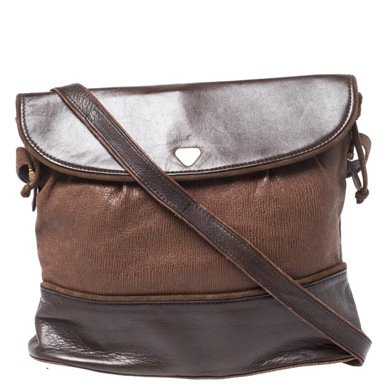 Lanvin Brown Leather Crossbody Bag