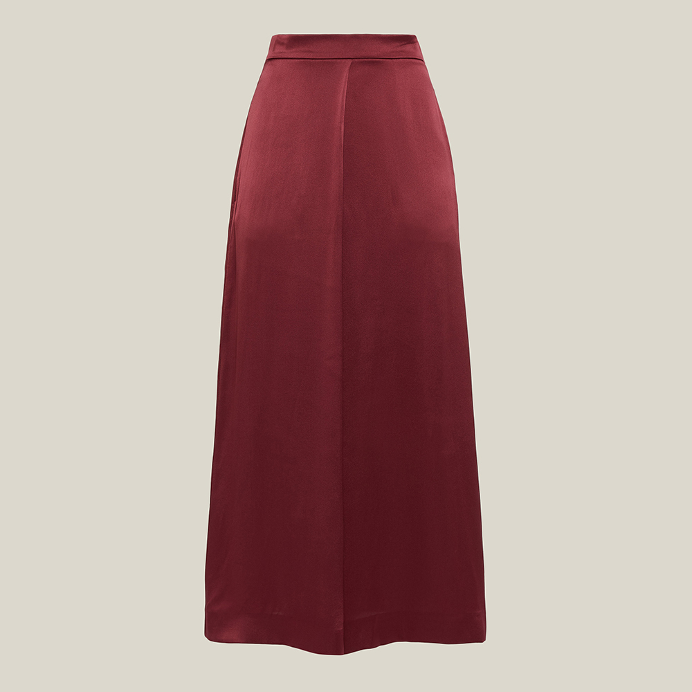 LAYEUR Red Mae High Waist Silk Culottes FR 42