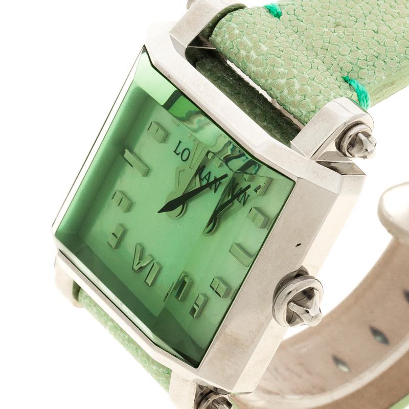 Locman Vert Nacre N. F0464 Requin Cuir de Femmes montre-Bracelet 37MM