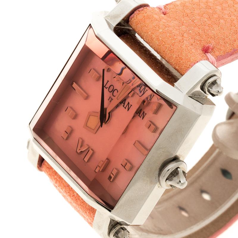 Locman Nacre Rose N. F0840 Requin Cuir de Femmes montre-Bracelet 37MM