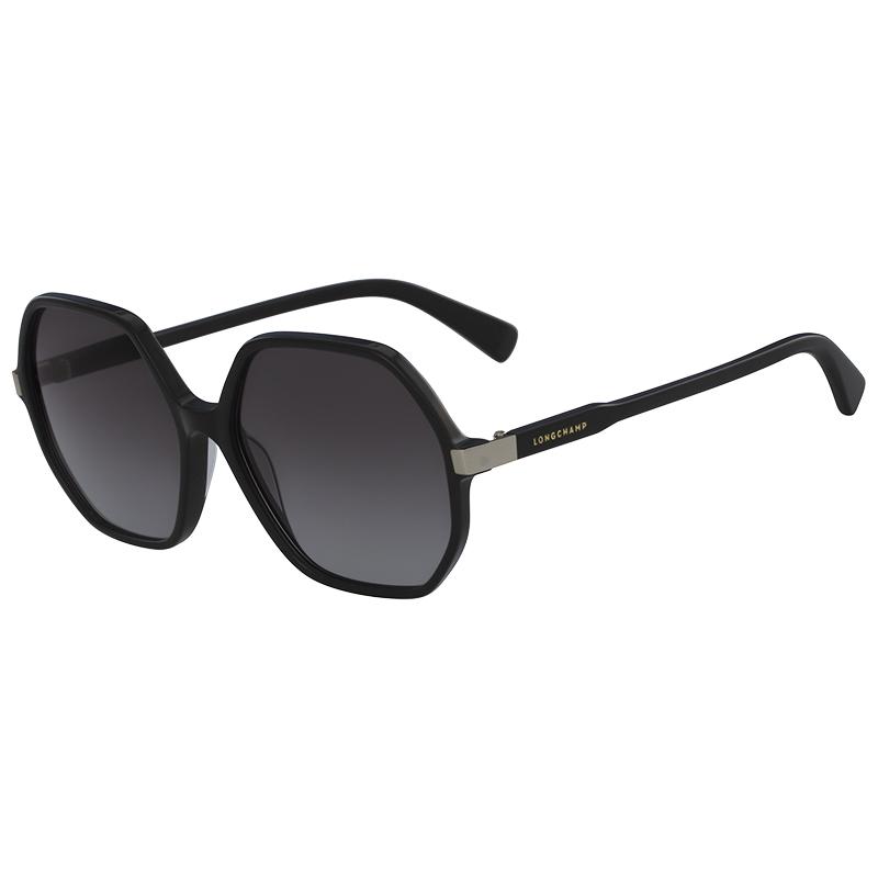Longchamp Black LO613S Oversized Square Sunglasses