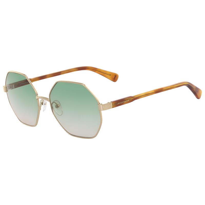 Longchamp Deep Gold LO106S Octagon Sunglasses