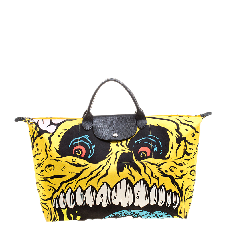 Buy Longchamp Multicolor Fabric Jeremy Scott Monster Tote 125604 at ... 5eb3f617761b