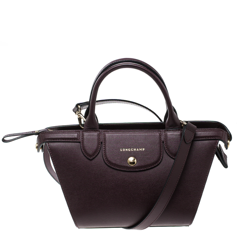 c212ef8a3ba Buy Longchamp Burgundy Leather Small Le Pliage Heritage Tote 135557 ...