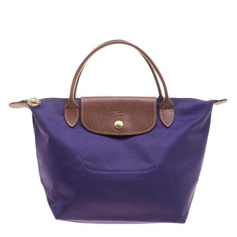 63778ae01f2 ... Longchamp Purple Nylon Medium Le Pliage Tote. nextprev. prevnext