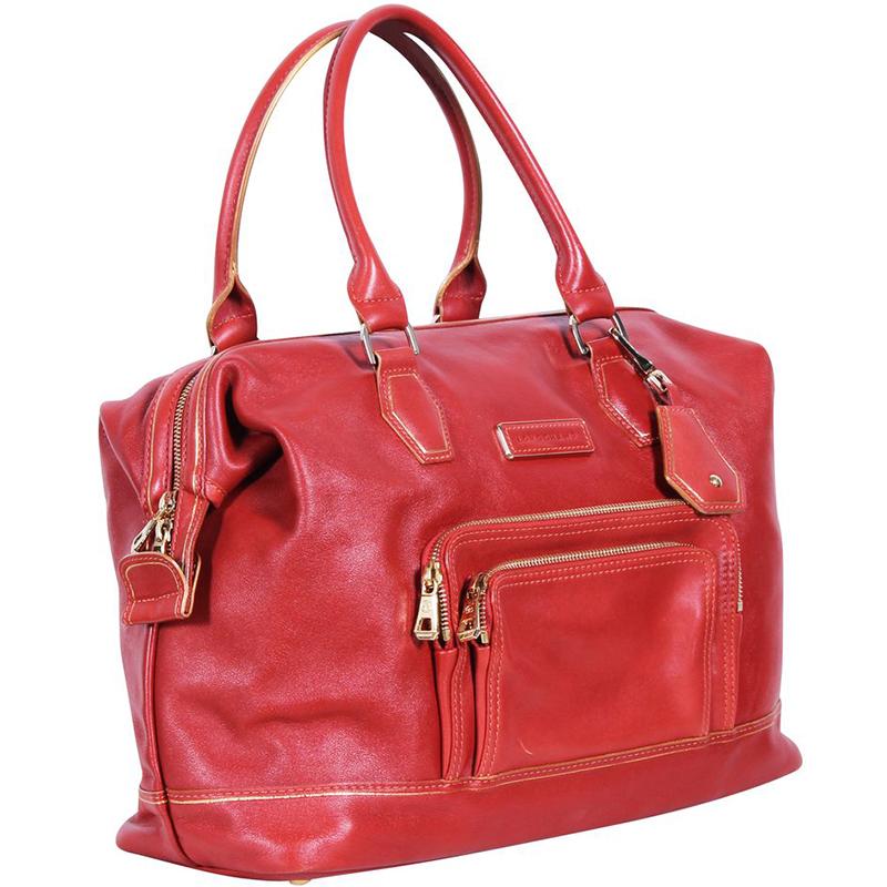 Longchamp Rouge Cuir Legende Sac Fourre-Tout
