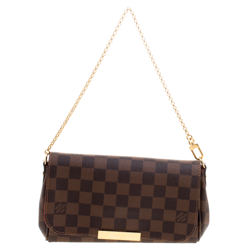 802b77ac Louis Vuitton Damier Ebene Canvas Favorite PM Bag