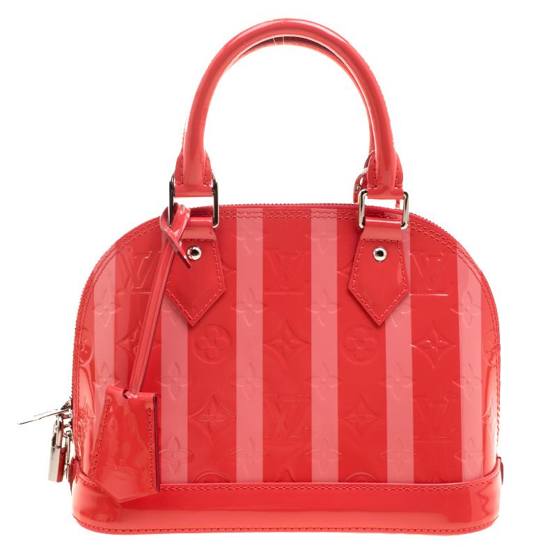 1f1dc37716ab Buy Louis Vuitton Poppy Rayures Monogram Vernis Alma BB Bag 123419 ...