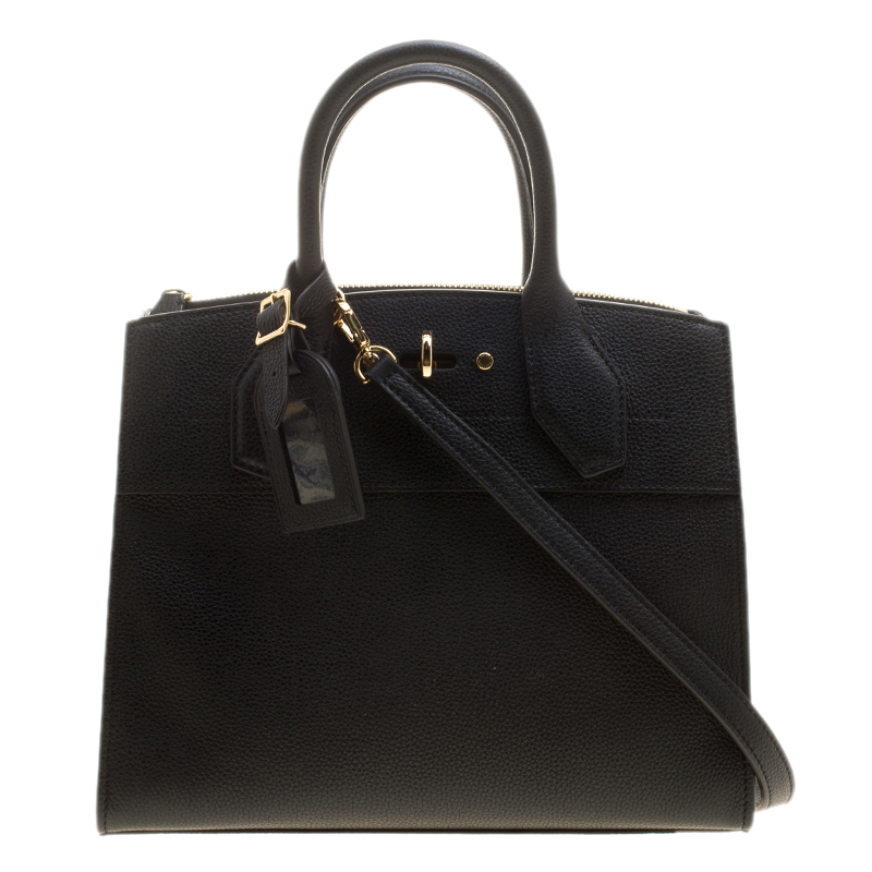 62d0a5addd70 ... Louis Vuitton Black Leather City Steamer PM Bag. nextprev. prevnext