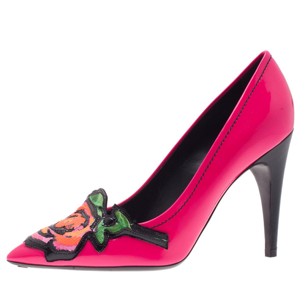 add837423d Buy Louis Vuitton Pink Patent Stephen Sprouse Rose Pumps Size 37 ...