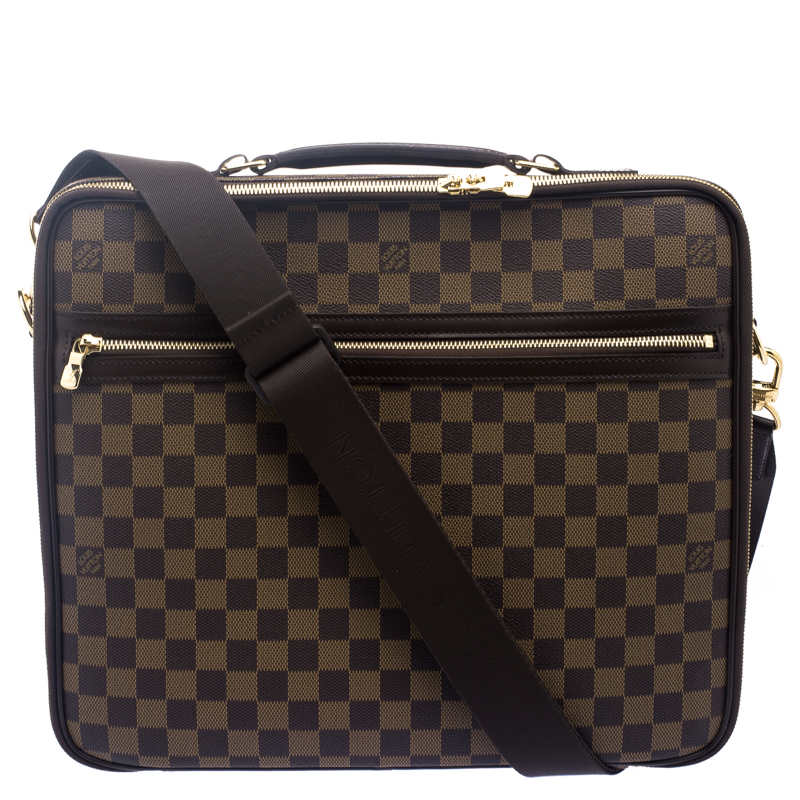 Louis Vuitton Damier Ebene Canvas Sabana Laptop Bag