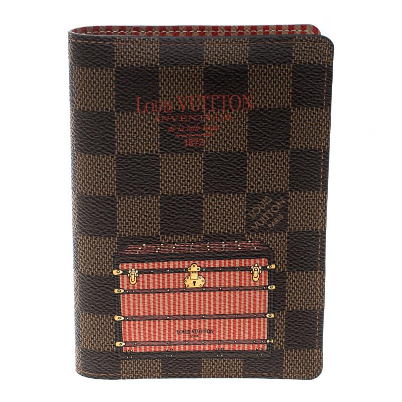1fb8c622a541 ... Louis Vuitton Damier Ebene Canvas Trunk and Lock Passport Cover.  nextprev. prevnext