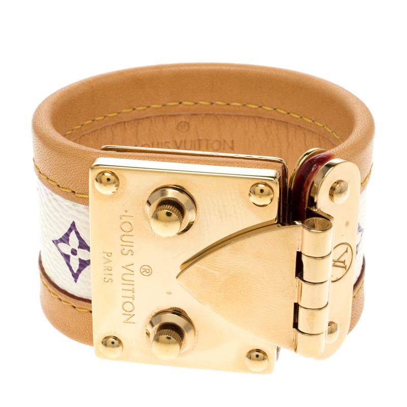 0f42e9c69717 Buy Louis Vuitton Beige Multicolor Monogram Canvas Leather S Lock ...
