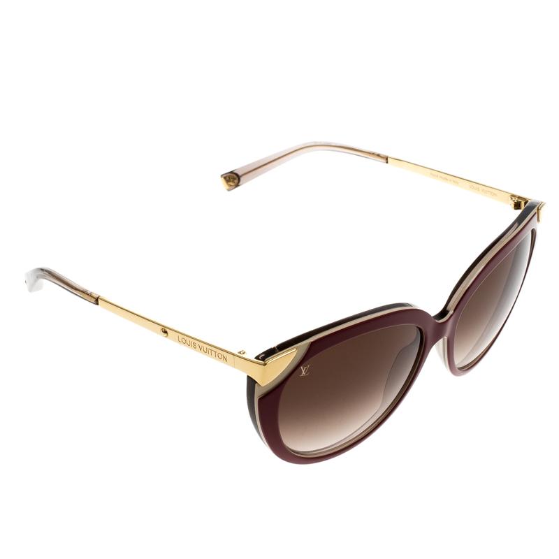 16d5ebba52 ... Louis Vuitton Fuchsia Gold Amber Cateye Sunglasses. nextprev. prevnext