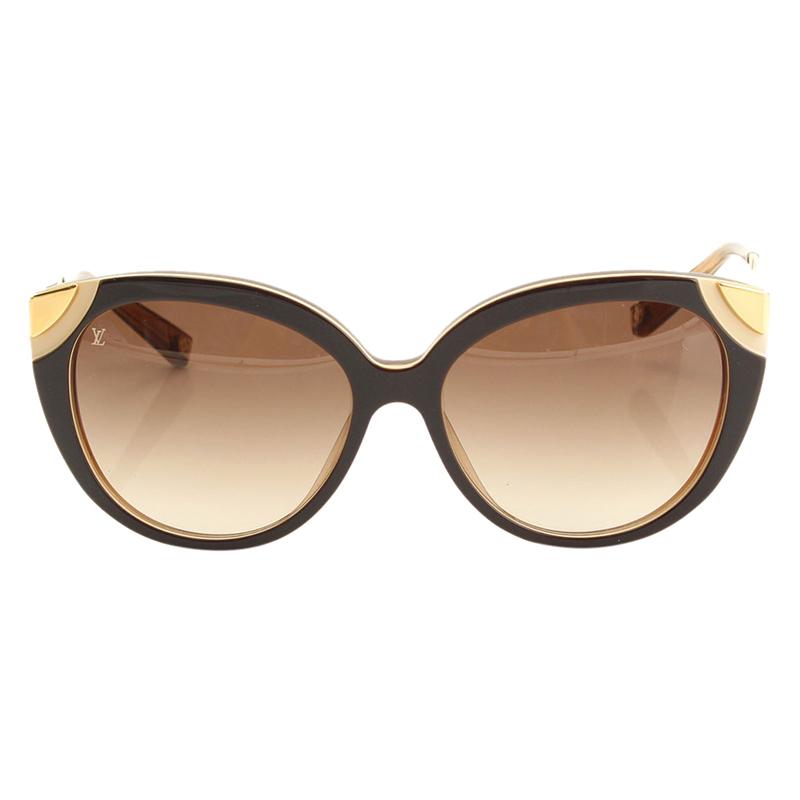 919116dd9a ... Louis Vuitton Brown Z0620E Amber Cat Eye Sunglasses. nextprev. prevnext