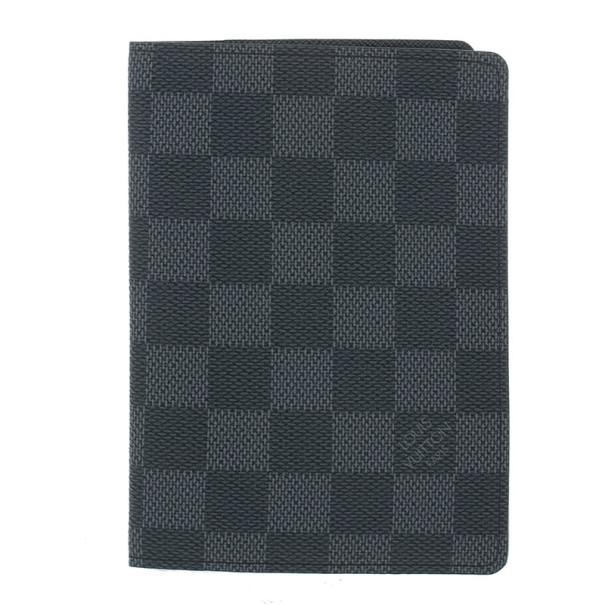 2046ab0a204f Buy Louis Vuitton Damier Graphite Passport Holder 15012 at best price