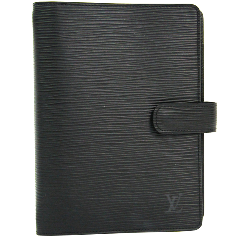 02988b5a06653 ... Louis Vuitton Noir Epi Leather Medium Ring Agenda Cover. nextprev.  prevnext