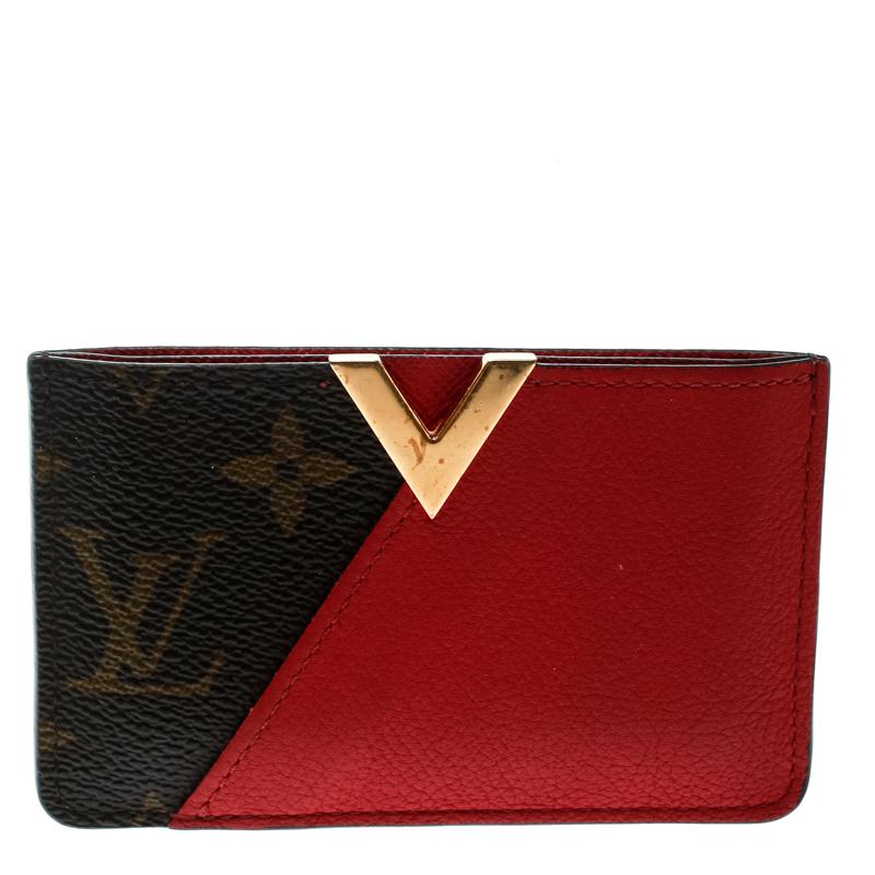 dea85d7bbf Louis Vuitton Red Monogram Canvas and Leather Kimono Card Case
