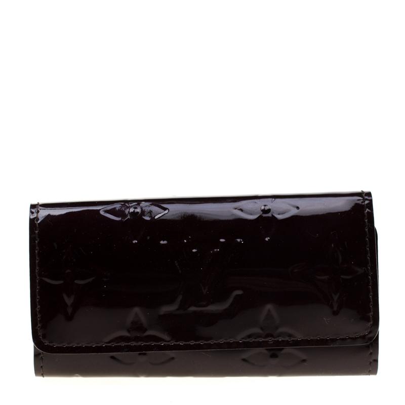 01a74a1b50 Louis Vuitton Amarante Monogram Vernis Multicles 4 Key Holder