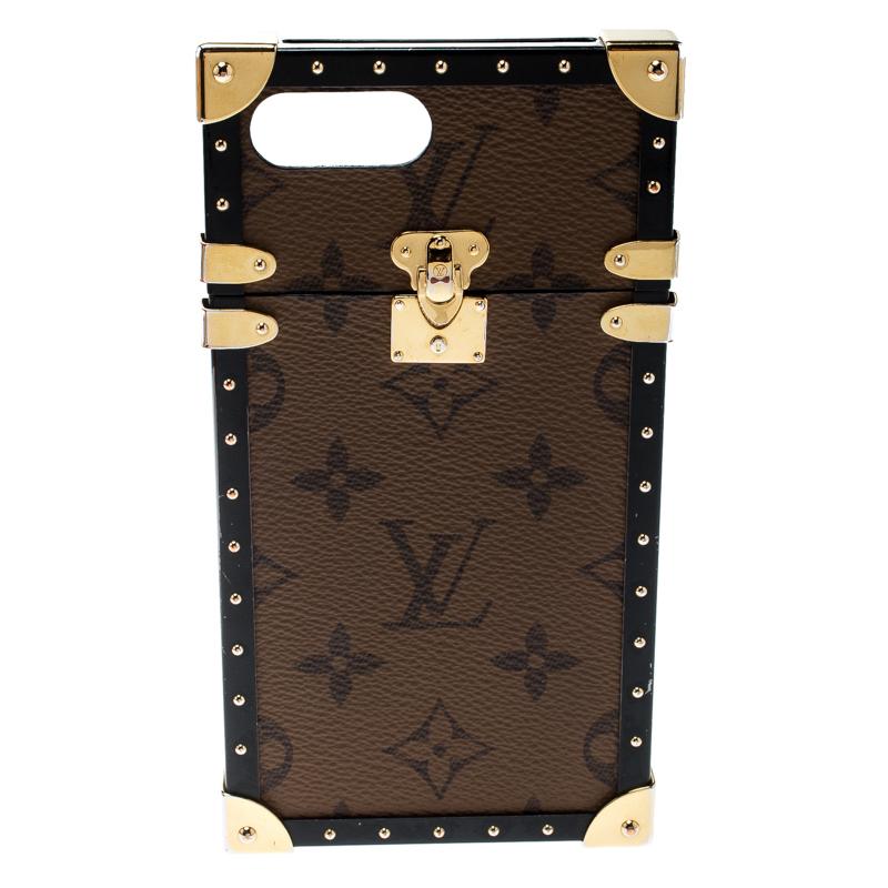 uk availability a41ae 9968f Louis Vuitton Monogram Canvas Eye Trunk Iphone 7+ Case