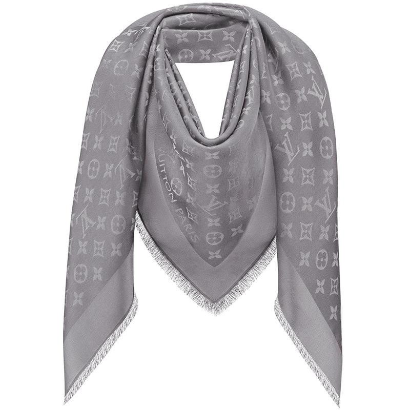 Louis Vuitton Charcoal Grey Monogram Shine Shawl