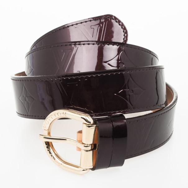 Louis Vuitton Amarante Monogram Vernis Belt