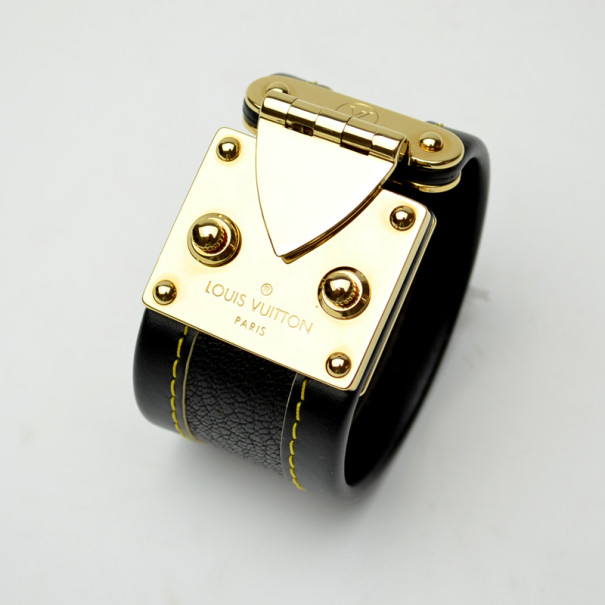 Louis Vuitton Leather Lock Bracelet