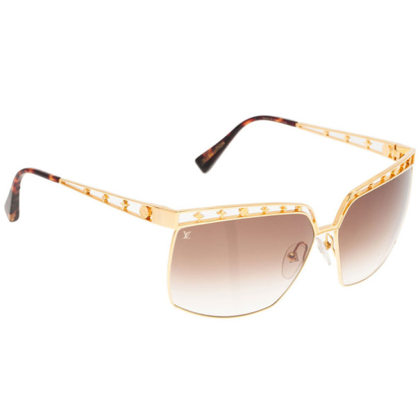 46fdcd052397 Buy Louis Vuitton Gold Dorothy Sunglasses 3618 at best price