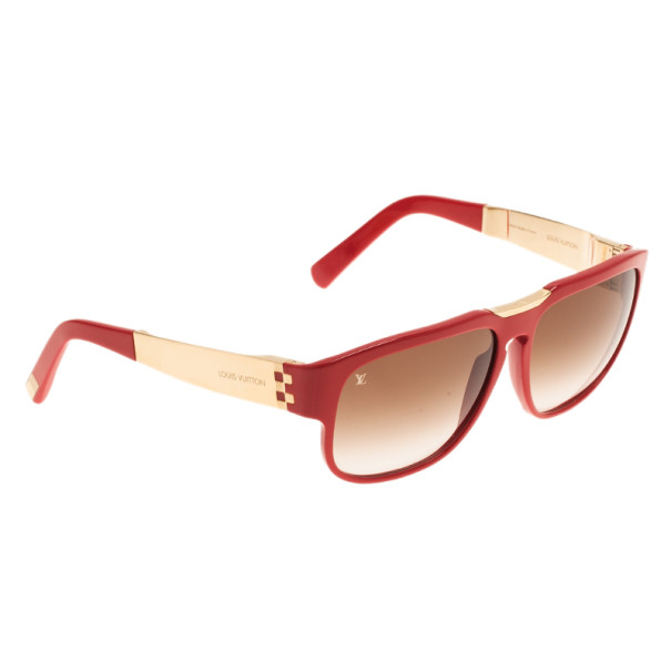 cbbd4fda868 Buy Louis Vuitton Red Attirance Sunglasses 3743 at best price