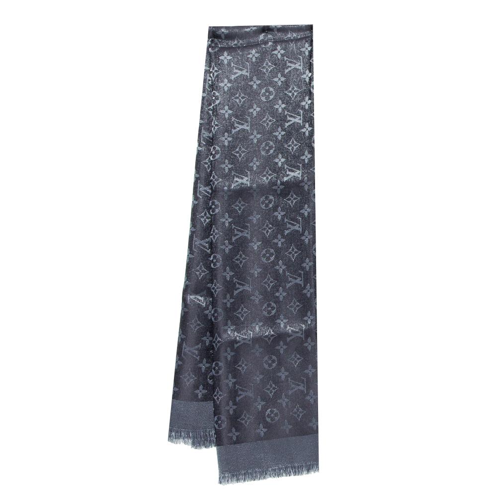 Pre-owned Louis Vuitton Black Monogram Shine Shawl