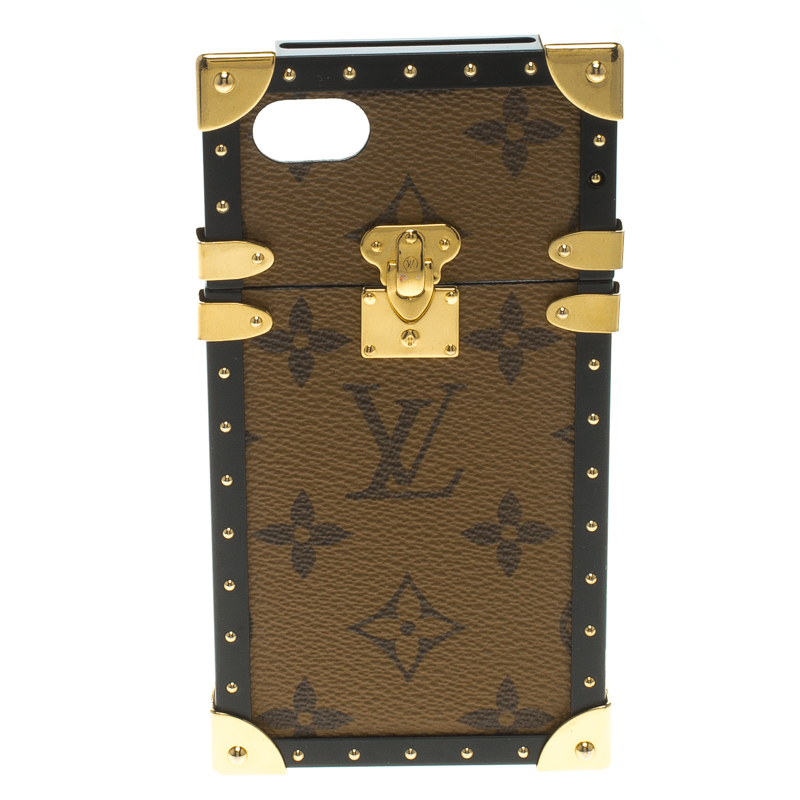 huge discount 010c8 5ebef Louis Vuitton Monogram Reverse Canvas Eye Trunk iPhone 7 Case