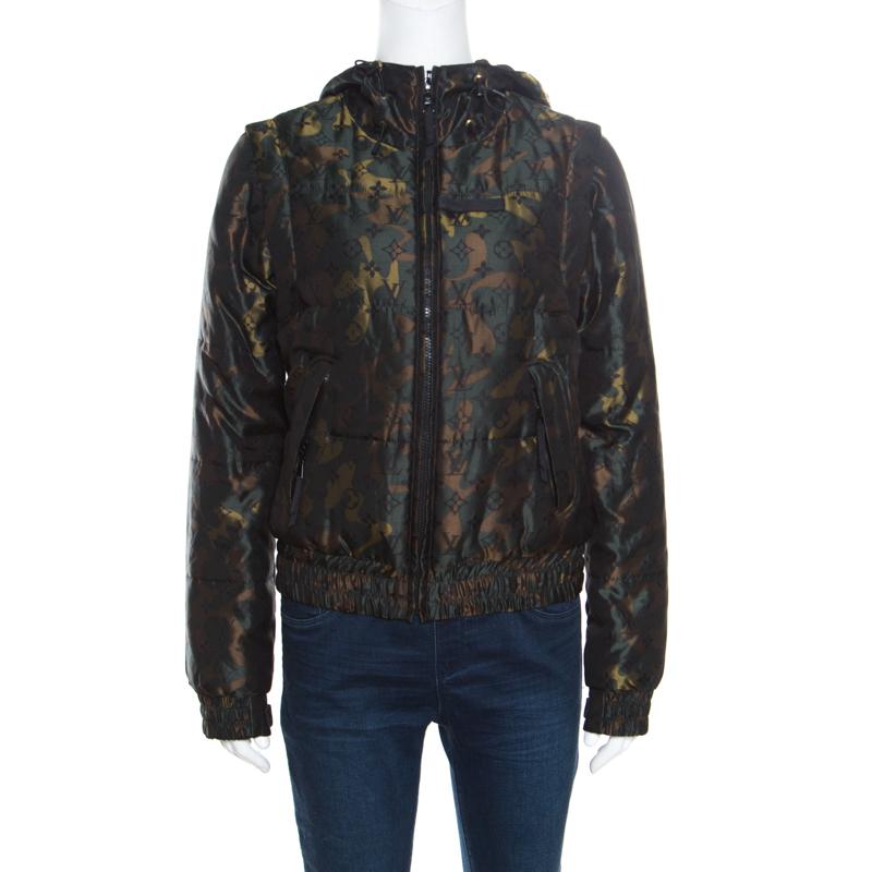 43d2415e0acc ... Louis Vuitton X Takashi Murakami Monogramouflage Convertible Puffer  Jacket Vest M. nextprev. prevnext