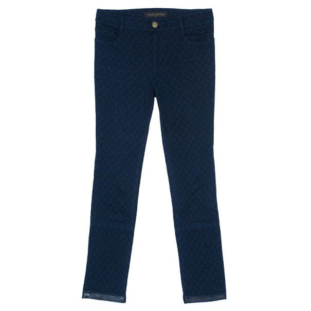 Louis Vuitton Blue Monogram Denim Pants S