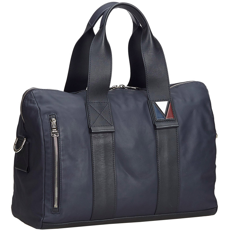 Фото #1: Louis Vuitton Navy Blue Leather V-Line Start PM Bag