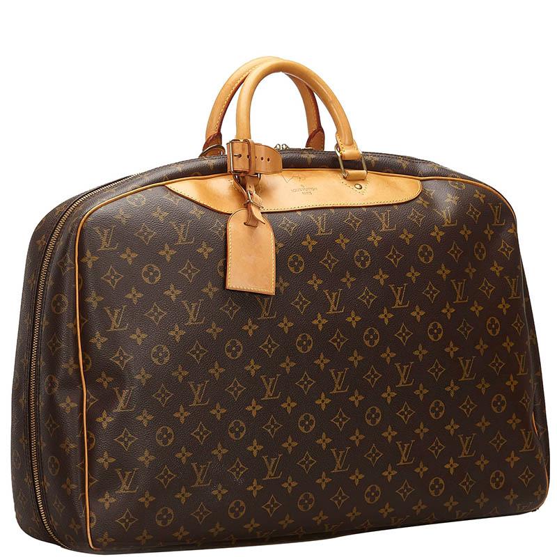 Louis Vuitton Monogram Tela Alize 24 Heures Soft Valigia