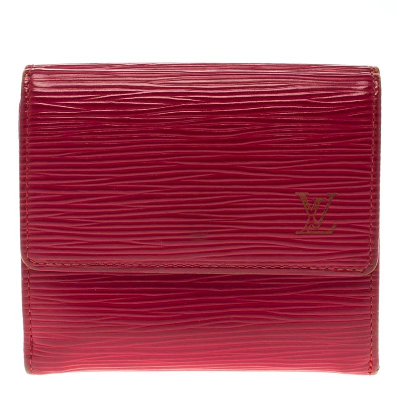 Louis Vuitton Red Epi Leather Elise Wallet Louis Vuitton Tlc