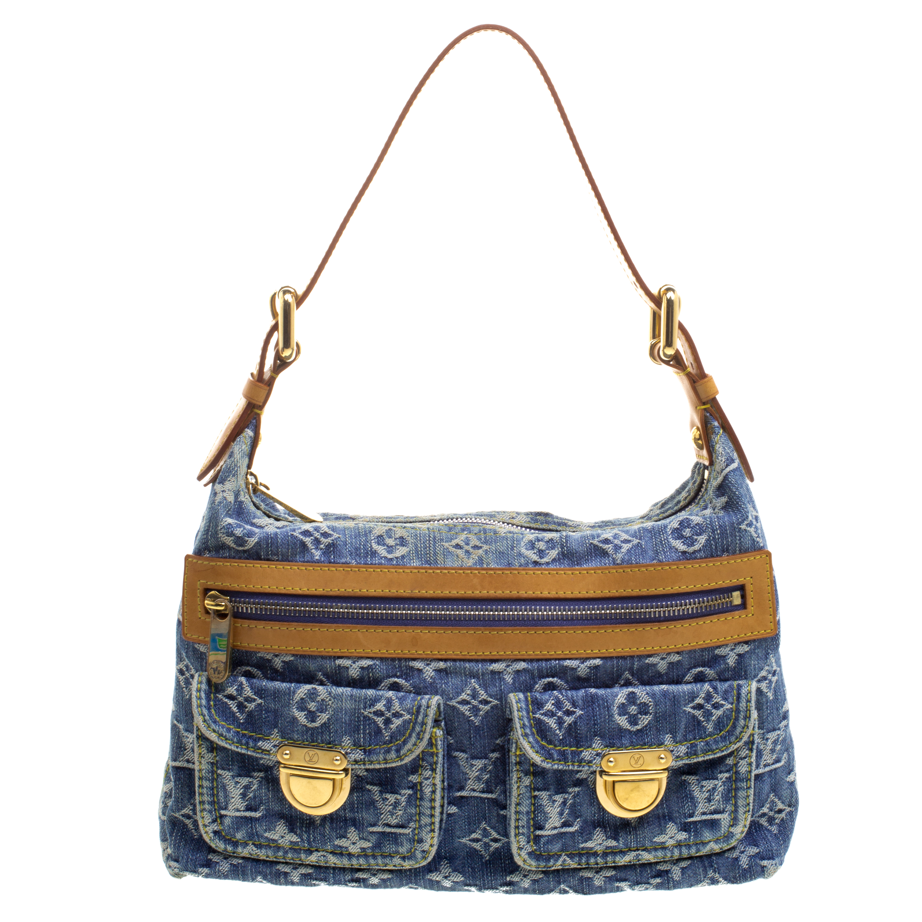 6741d2aa156d ... Louis Vuitton Blue Monogram Denim Baggy PM Bag. nextprev. prevnext