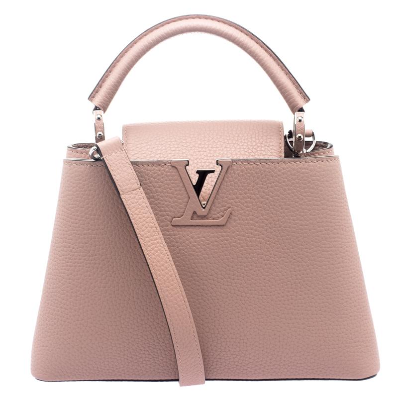fuldstændig stilfuld bedste tilbud på eksklusivt sortiment Louis Vuitton Beige Taurillon Leather Capucines BB Bag