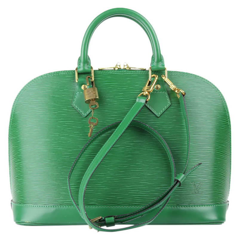 8ff7d1d8f795 ... Louis Vuitton Borneo Green Epi Leather Alma PM Bag. nextprev. prevnext