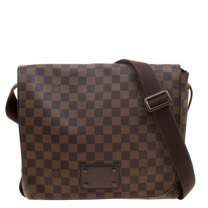 eceef901118b ... Louis Vuitton Damier Ebene Canvas Brooklyn GM Messenger Bag. nextprev.  prevnext
