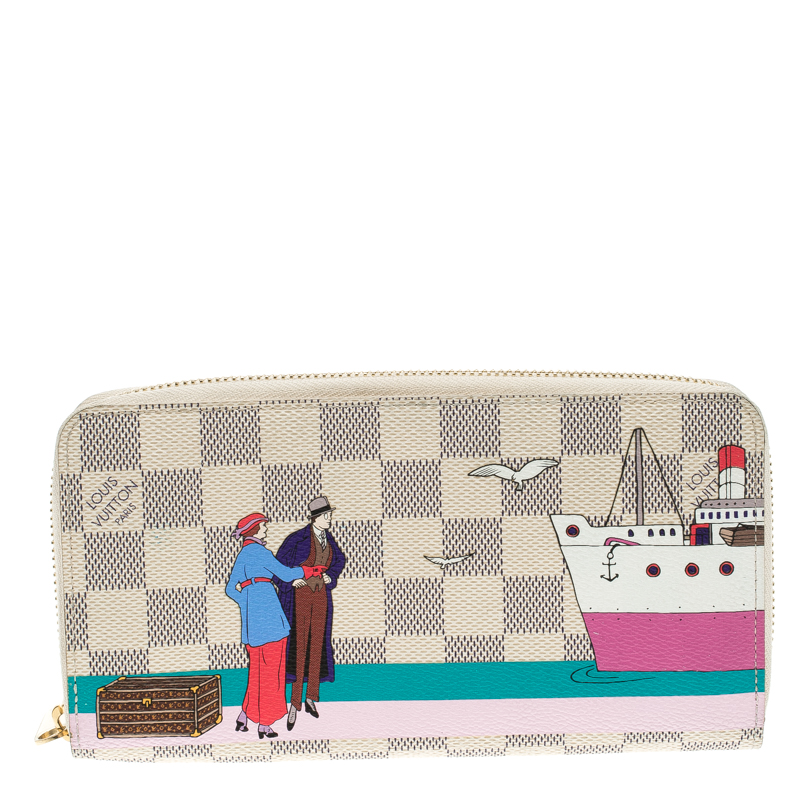 c37a9b998a4a1 ... Louis Vuitton Damier Azur Canvas Transatlantic Cruises Zippy Wallet.  nextprev. prevnext