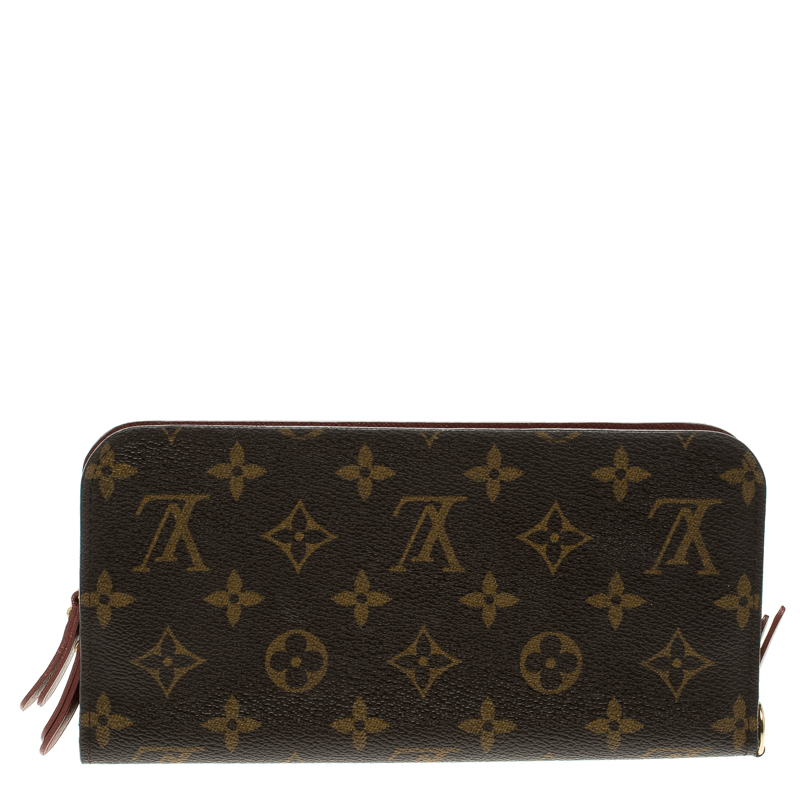 Louis Vuitton Burgundy Monogram Canvas Insolite Wallet