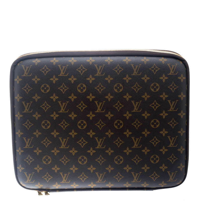 premium selection 8c014 76bd7 Louis Vuitton Monogram Canvas Sleeve Laptop Case 15