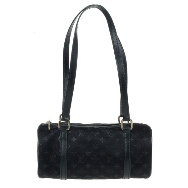 65548d9b0a95 Buy Louis Vuitton Black Monogram Satin Mini Papillon 11782 at best price