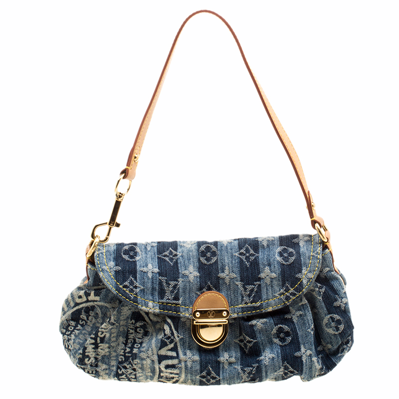 1e28389c089 ... Louis Vuitton Blue Monogram Denim Mini Pleaty Raye Bag. nextprev.  prevnext