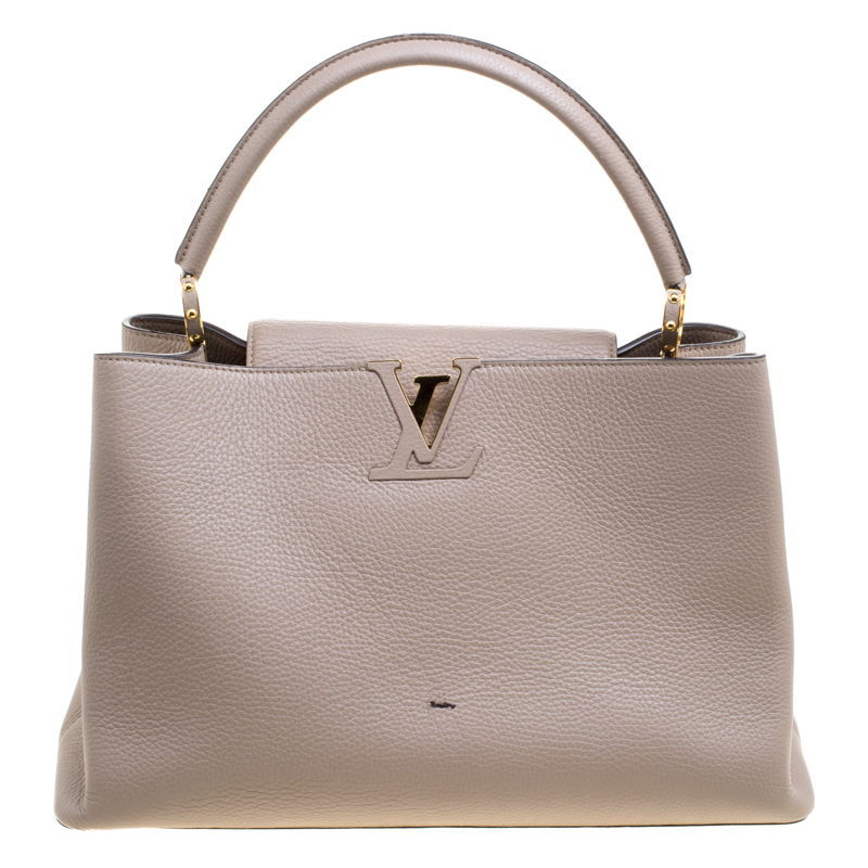 89f05ebebbde15 Buy Louis Vuitton Beige Taurillon Leather Capucines GM Bag 120034 at ...