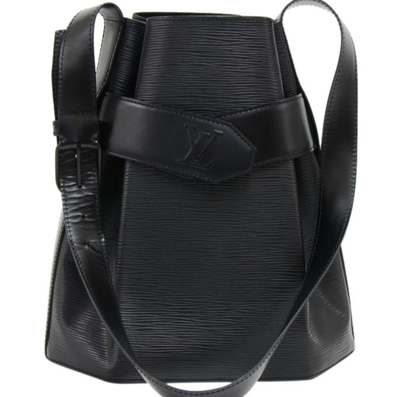 becabff611a Buy Louis Vuitton Noir Epi Leather Sac d Epaule PM Bag 120067 at ...