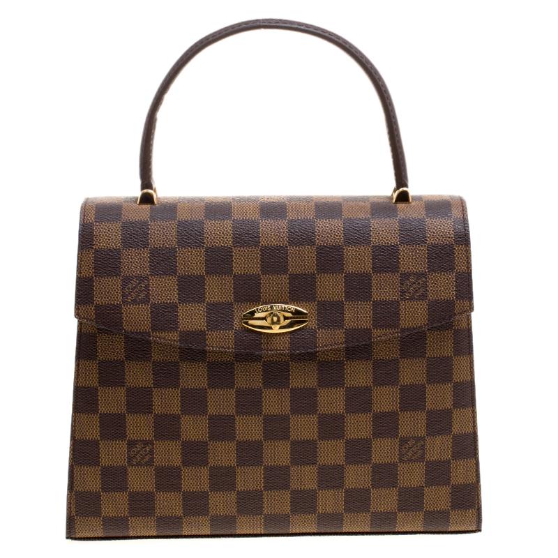d5bbbcaa31 ... Louis Vuitton Damier Ebene Canvas Malesherbes Top Handle Bag. nextprev.  prevnext