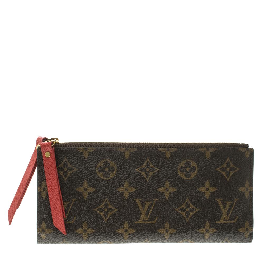 1f3deb141a2e Louis Vuitton Coquelicot Monogram Canvas Adele Wallet